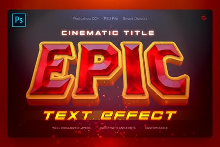 EPIC - Filmmusik Texteffekte