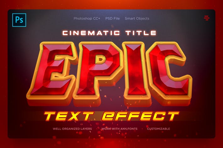 Thumbnail for EPIC - Cinematic Text Effects