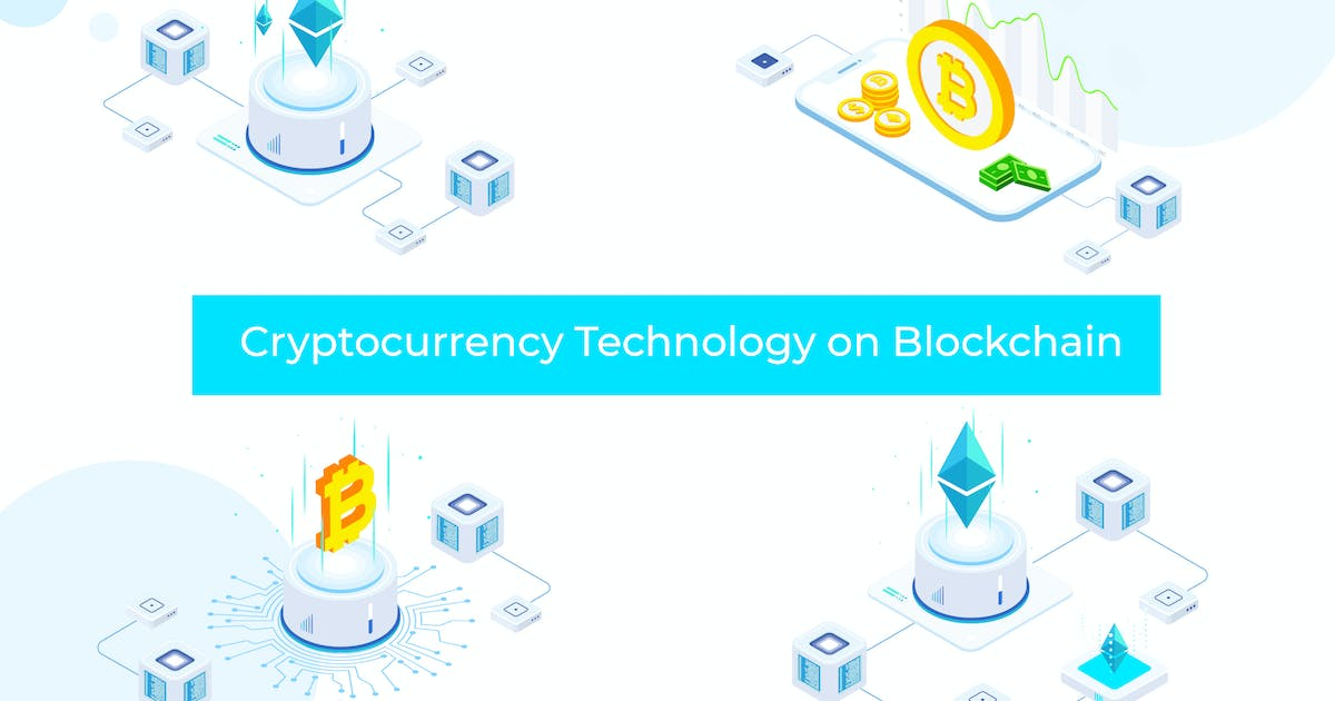 Download Cryptocurrency Technology Blockchain Isometric FV by angelbi88