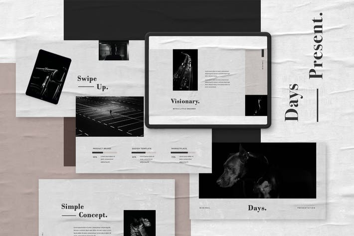 Thumbnail for Days Business Minimal Keynote Template