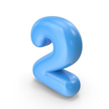 Blauer Toon-Ballon Nummer 2