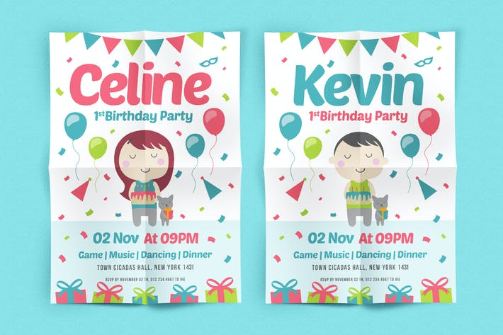Cover Image For Birthday party Flyer