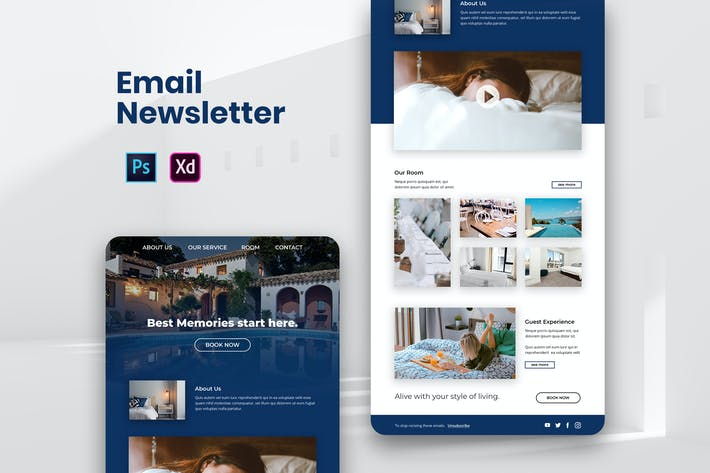 Thumbnail for Hotel Travel Email Newsletter