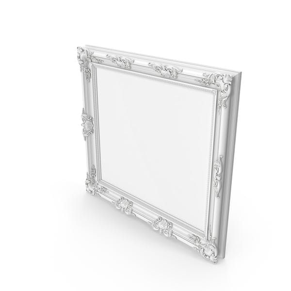 Thumbnail for Big White Baroque Picture Frame