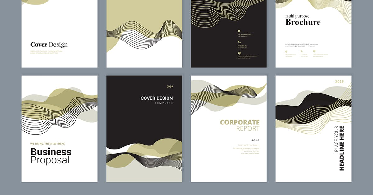 Download Set of brochure, annual report design templates by PureSolution