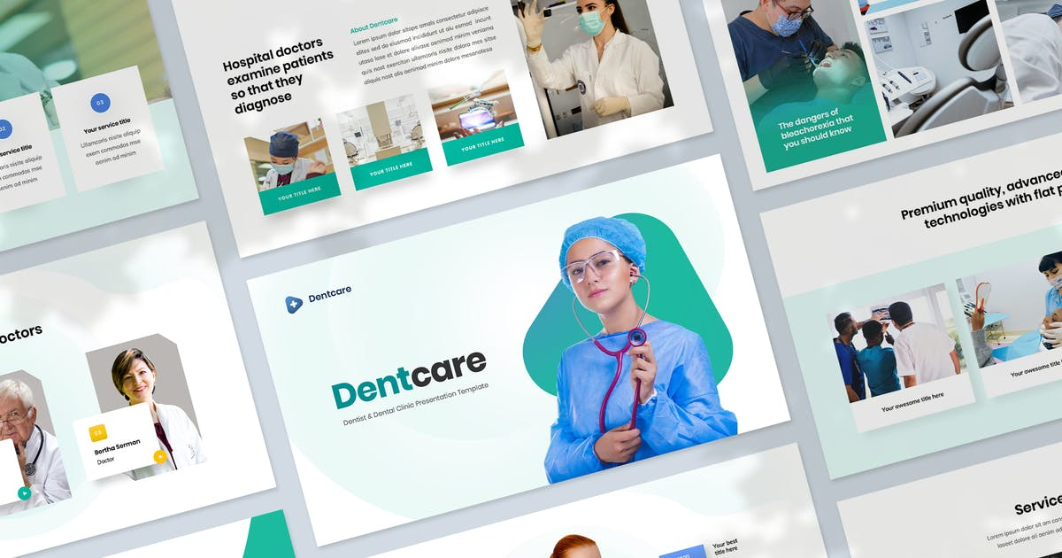 Download Dentcare - Dental Clinic Presentation Templates by Krafted