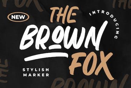 Marcador elegante The Brown Fox