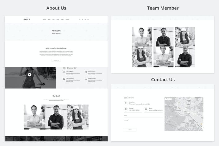 Cover Image For Uniqlo - Minimalist eCommerce Template