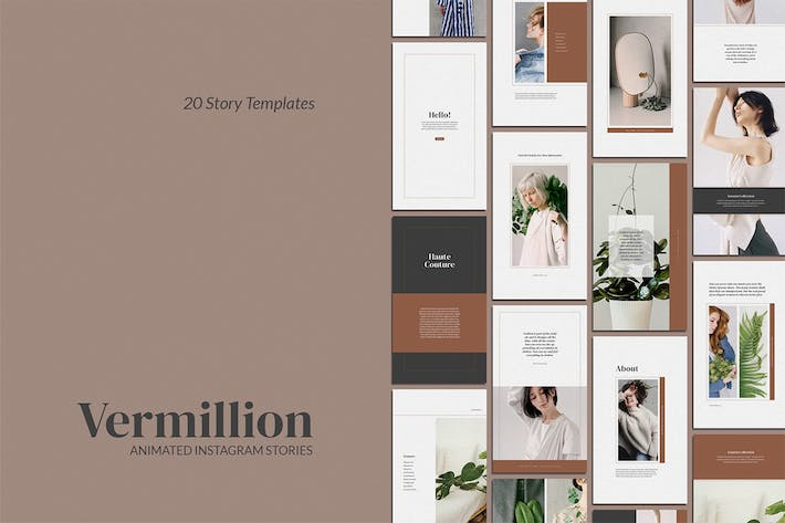 Thumbnail for Vermillion Animated Instagram Story Templates