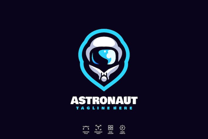 Thumbnail for Astronaut Logo Design Template