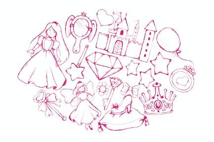 Fairytale Princess Doodles