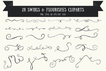 Swirls & Flourishes Cliparts Ver. 1