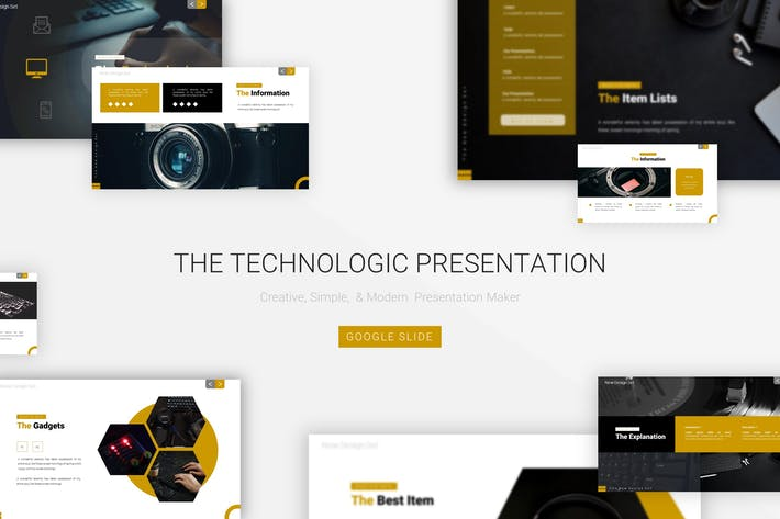 The Technologic - Google Slide Template