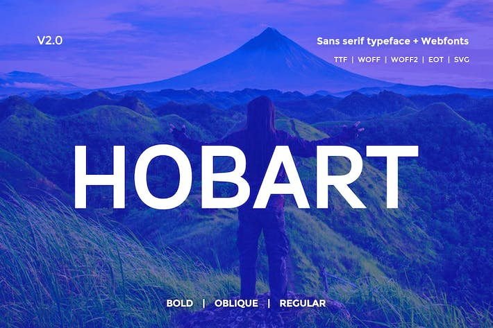 Thumbnail for Hobart Minimal Typeface + Webfonts v2.0