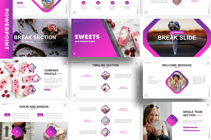 Thumbnail for Sweets - Business Powerpoint Template