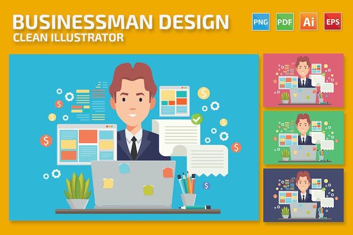 Thumbnail for Дизайн бизнесмена