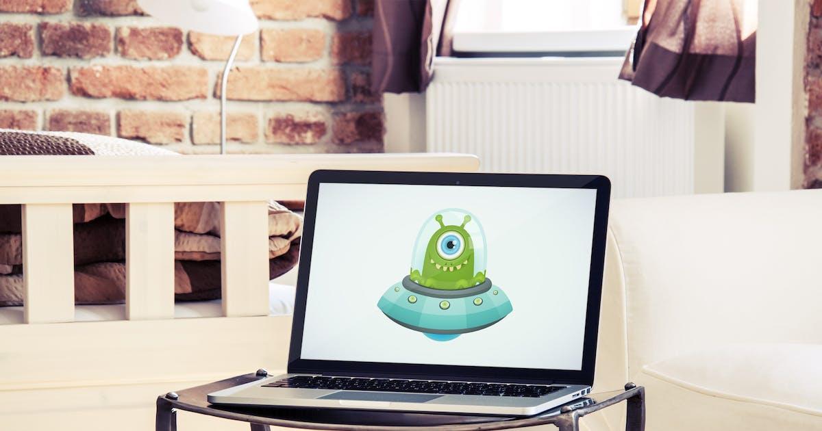 Download Laptop Mockup PSD in luxury interior by maroskadlec