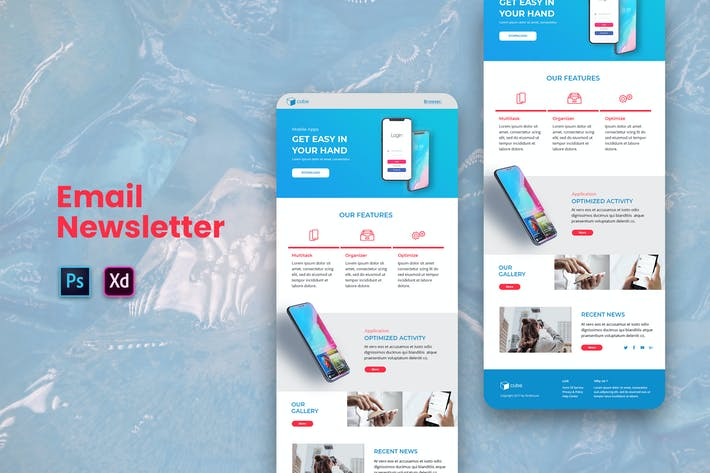 Thumbnail for Mobile App Email Newsletter