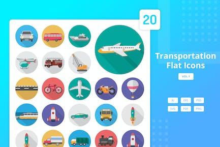 Transport - Flache Icons