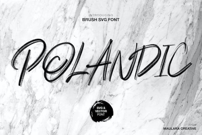 Thumbnail for Polandic SVG Brush Font