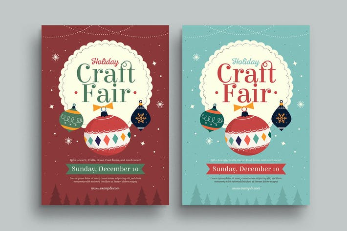 Thumbnail for Holiday Christmas Craft Fair Event Flyer
