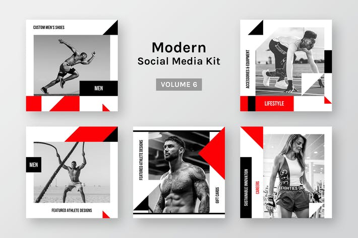 Thumbnail for Modern Social Media Kit (Vol. 6)