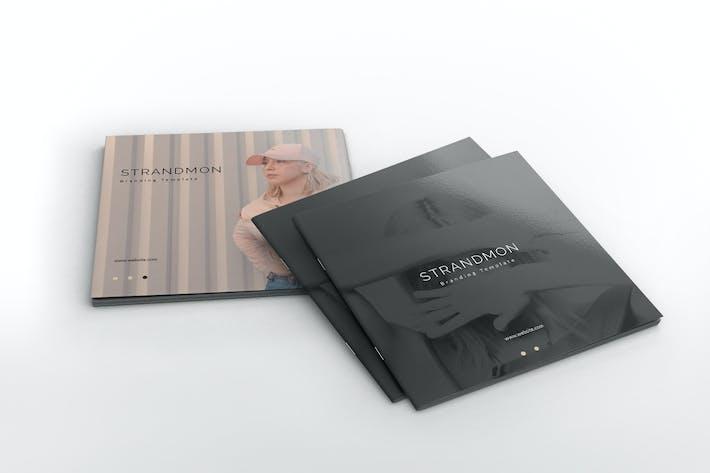Thumbnail for Strandmon Branding Square Brochure Template