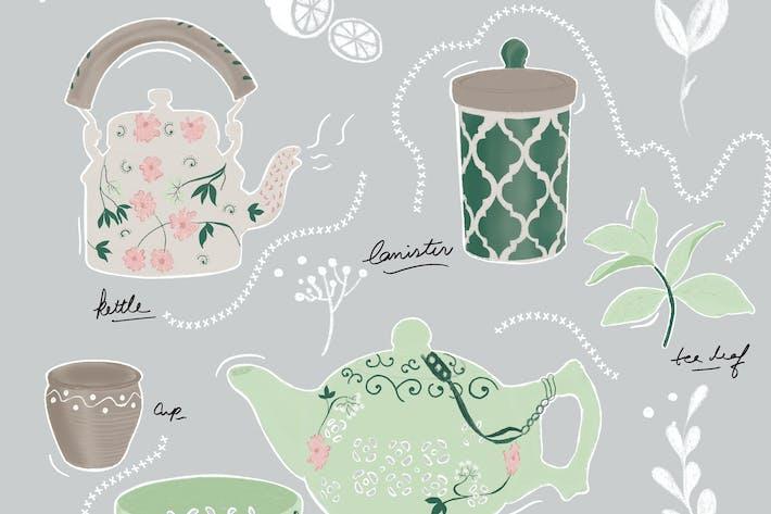 Illustration - Tea Set