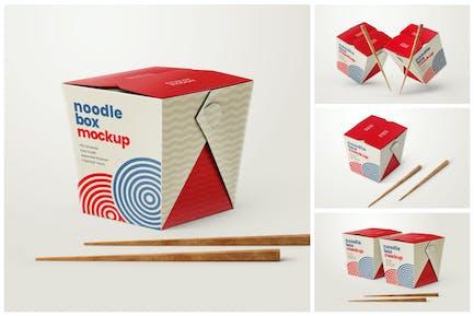 Noodle Box Mockup Set   Asian Food