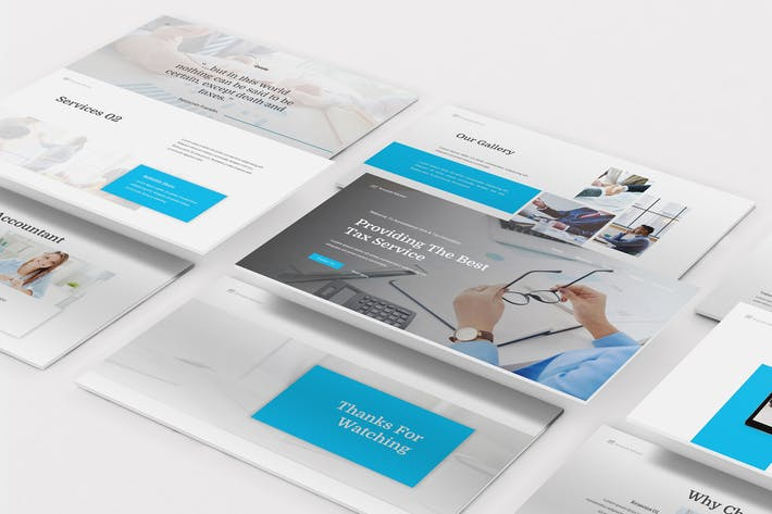 Thumbnail for Accountancy Keynote Template