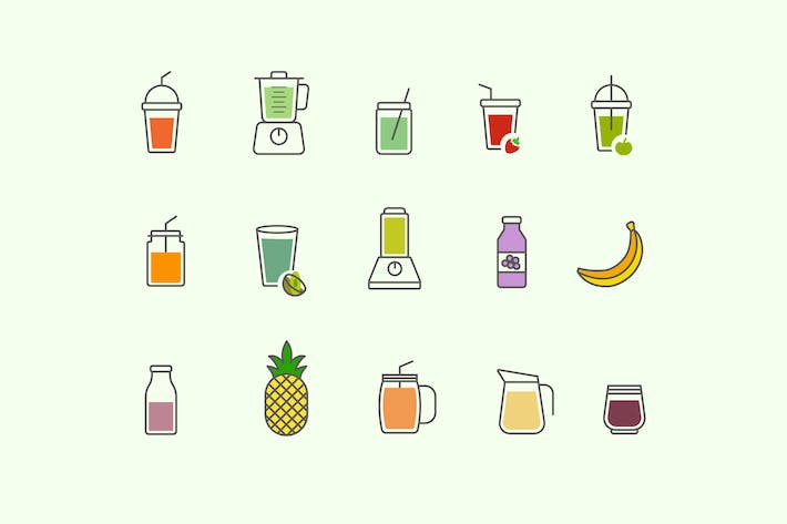 Thumbnail for 15 Smoothie Icons