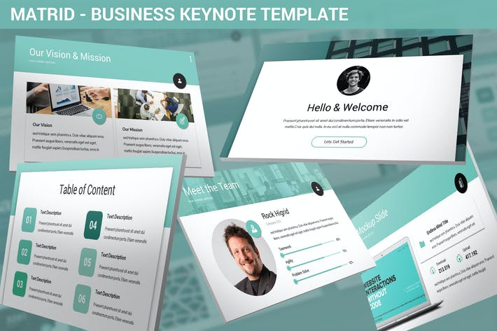 Thumbnail for Matrid - Business Keynote Template