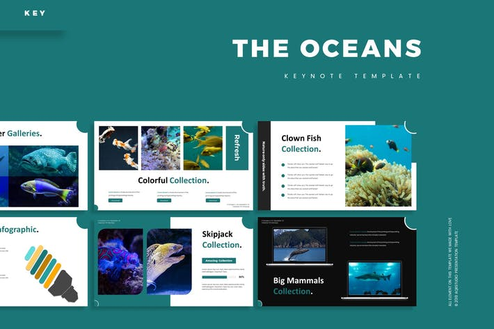 Thumbnail for The Ocean - Keynote Template