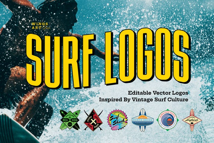 Thumbnail for Retro Surf Logos