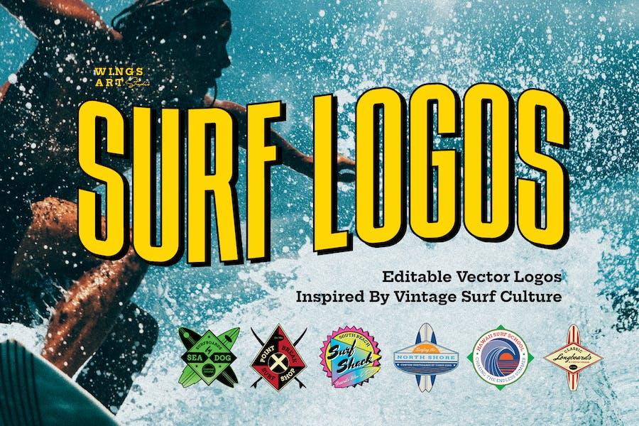 Retro Surf Logos