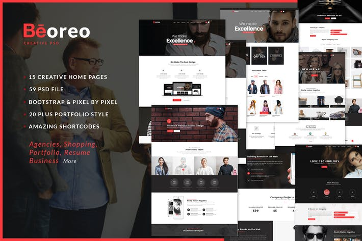 Thumbnail for Beoreo | Multi-Purpose PSD Template