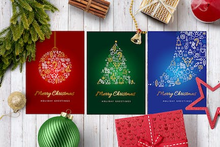 Merry Christmas Greetings Cards