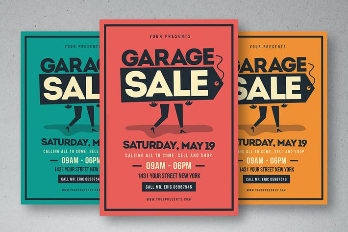 retro garage sale flyer by lilynthesweetpea on envato elements