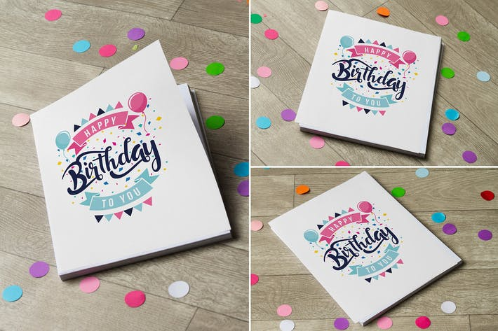 Thumbnail for Birthday Invitation Mock Up