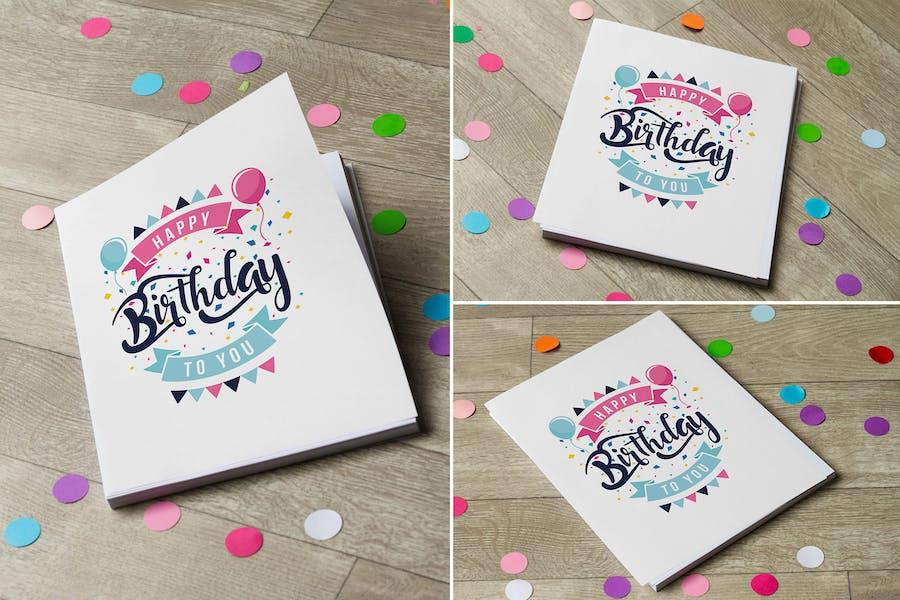 Birthday Invitation Mock Up