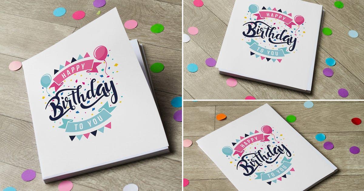 Download Birthday Invitation Mock Up by RetroBox