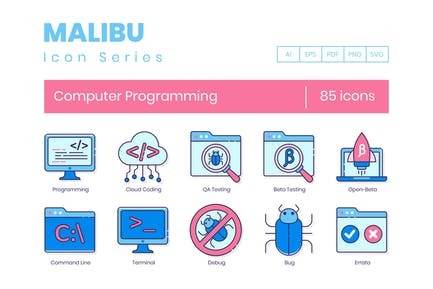 85 Computer Programming Icons