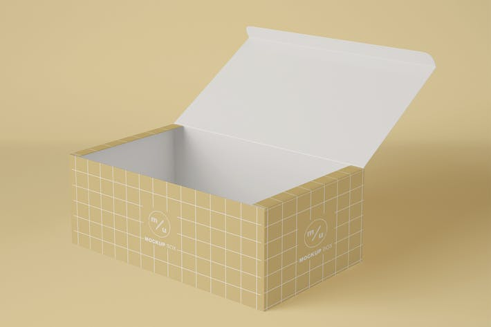 Thumbnail for Opened Box Packaging Mockup