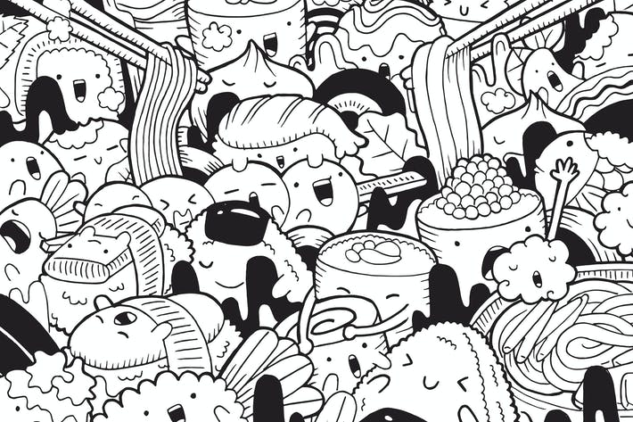 Thumbnail for Japanese Food Doodle