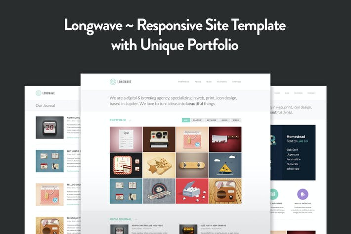 Cover Image For Longwave - Responsive HTML Template