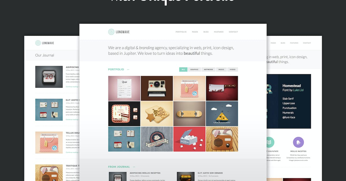 Download Longwave - Responsive HTML Template by elemis