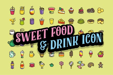 60 Sweet foods & Drink Icon