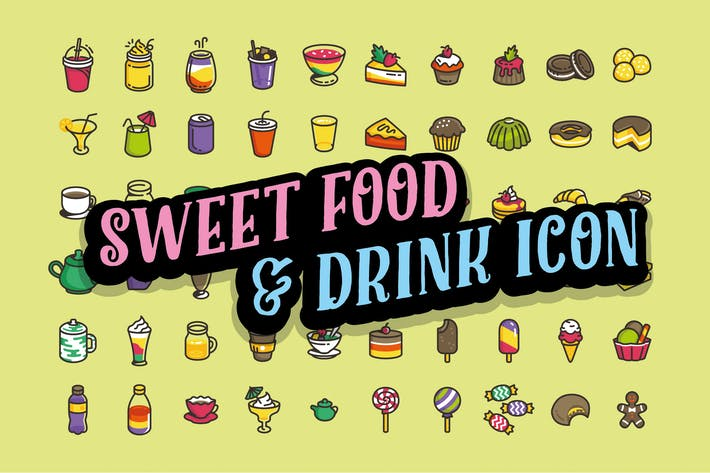Thumbnail for 60 Sweet foods & Drink Icon