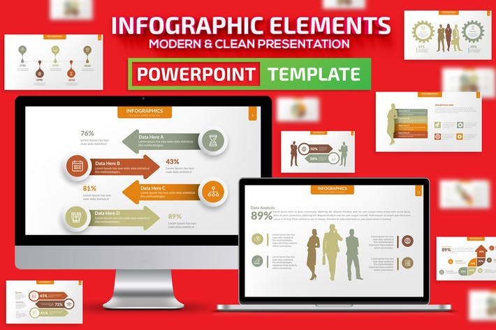 Thumbnail for Infographic Elements Powerpoint