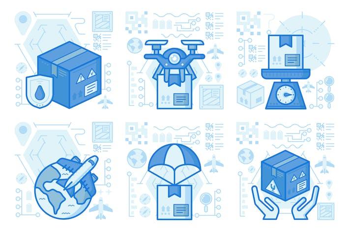 Thumbnail for UX-Illustrationen für Handlieferungen